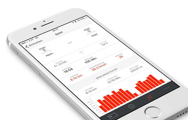 Fußball Tracker iPhone App