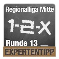 Regionalliga Mitte 2018/2019: Expertentipp Runde 13
