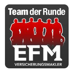 """2. Liga 2018/2019: """"EFM Versicherungsmakler"""" Team der Runde 10"""