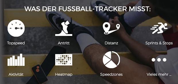 Was der Fußball-Tracker misst
