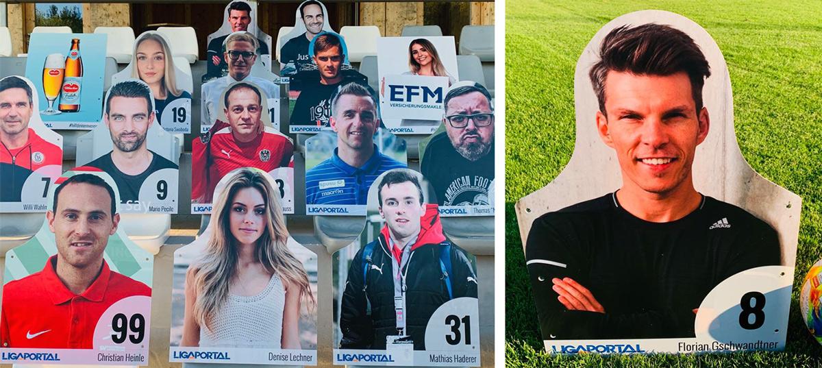 Die Fan-Figuren der Ligaportal Aktion #hilfdeinemverein