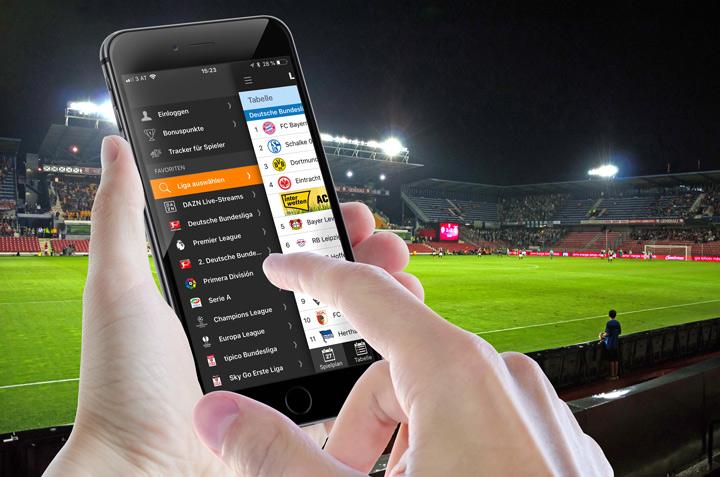 Die Ligaportal Live-Ticker App für dein iPhone