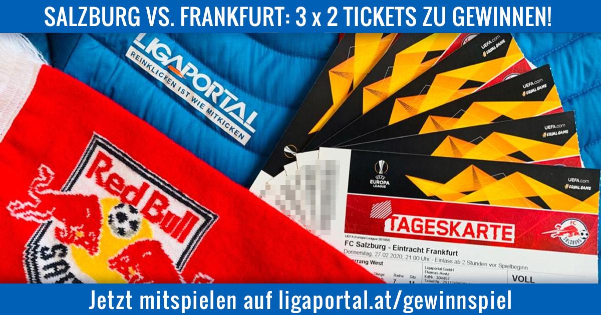 Salzburg gegen Frankfurt: Ligaportal verlost 3 x 2 Sitzplatz-Tickets!