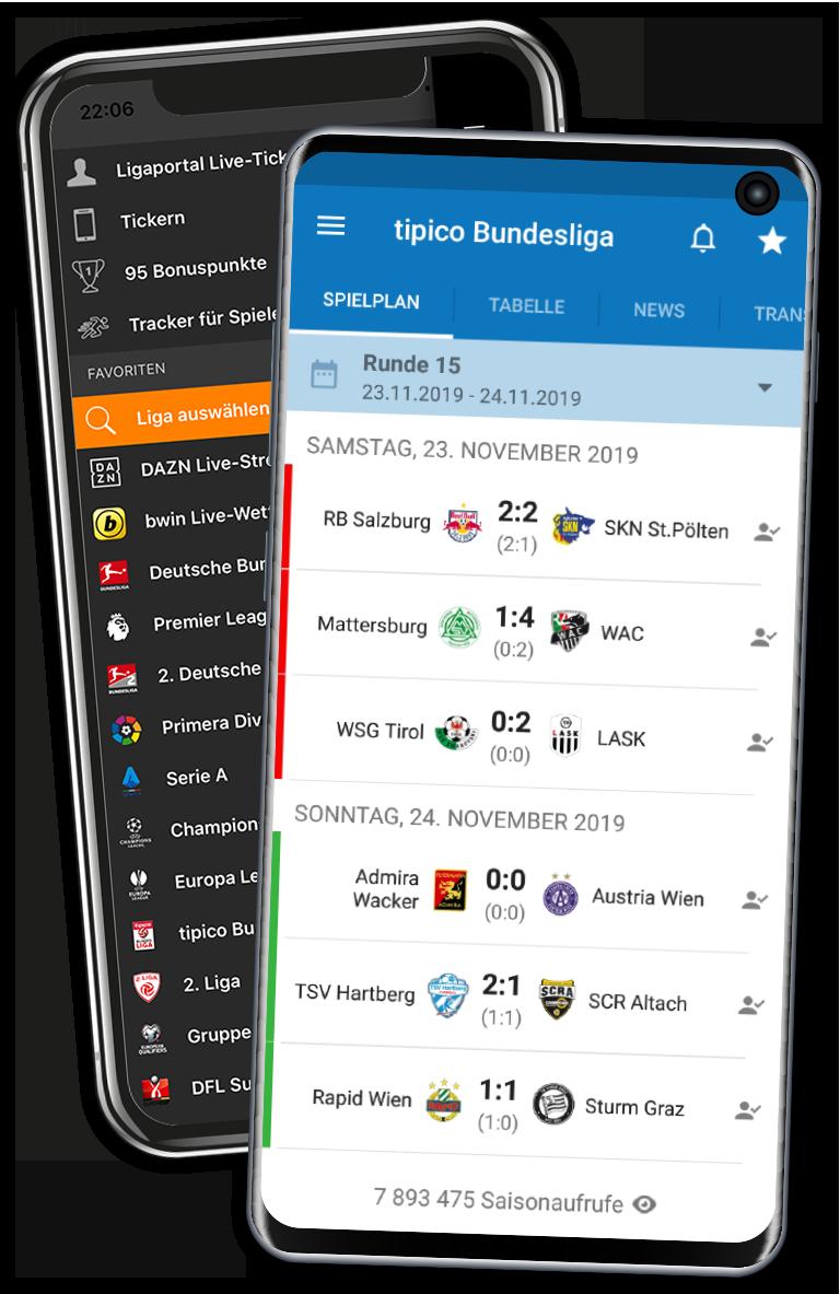 Die Ligaportal Fußball App