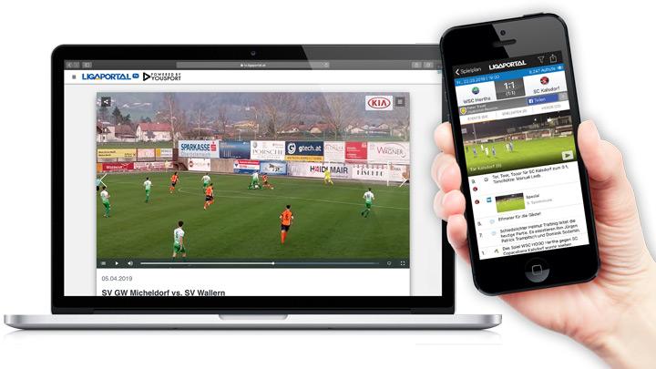 Ligaportal TV auf deinem Smartphone und Laptop