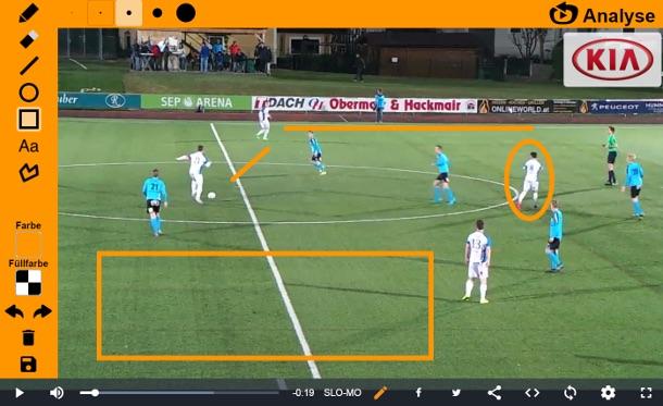 Integrierte Videoanalyse-Funktion im Ligaportal TV Player