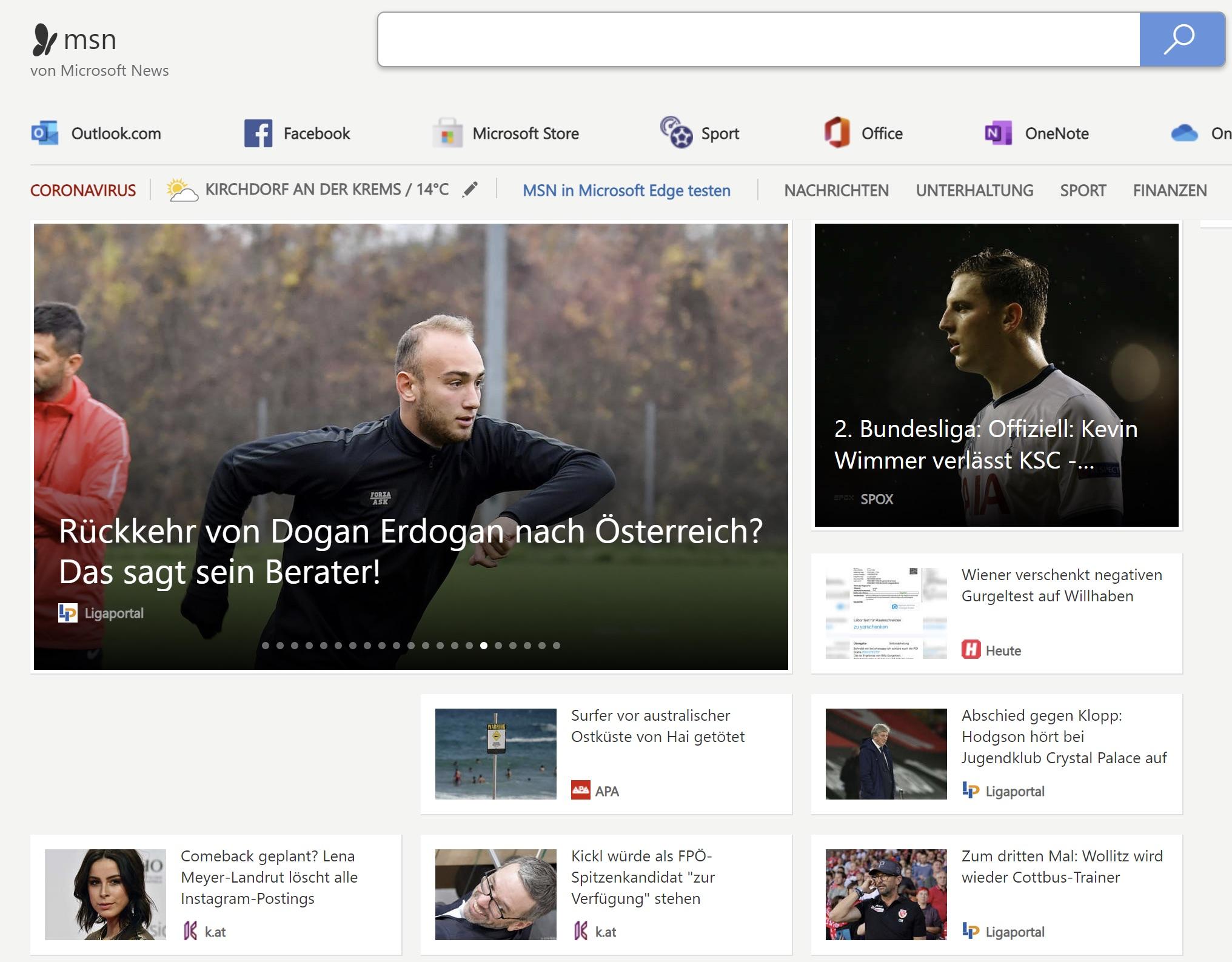 Ligaportal News bei MSN
