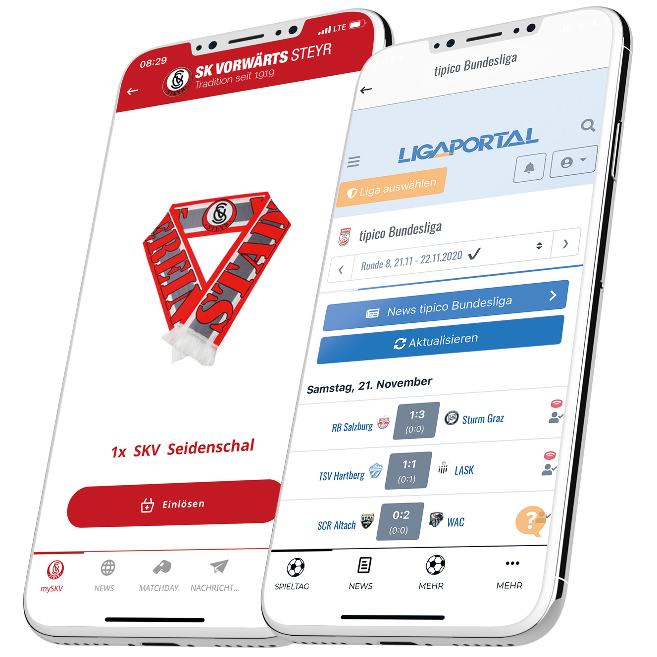 Ligaportal Integration in der Vereins-App