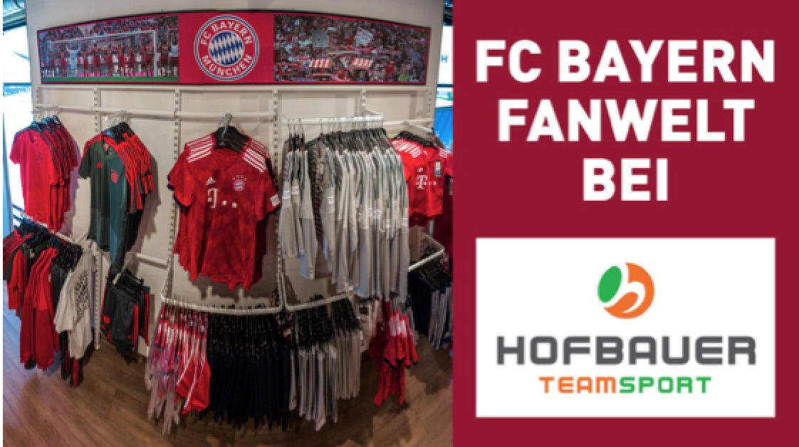 FC Bayern Fanwelt bei Teamsport Hofbauer