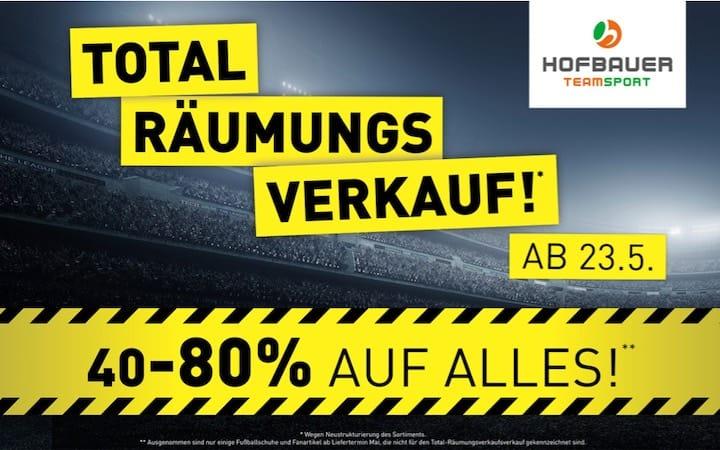 Hofbauer Totalräumungsverkauf