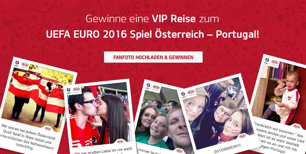 Fanfoto hochladen und exklusive VIP-Tickets für Österreich - Portugal bei der EURO 2016 gewinnen