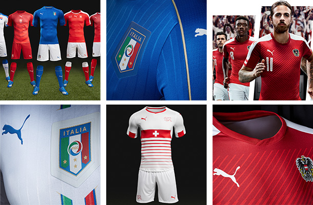 Puma-Trikots bei der Euro 2016