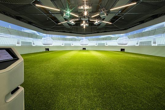Das hochmoderne skills.lab Fußball-Labor