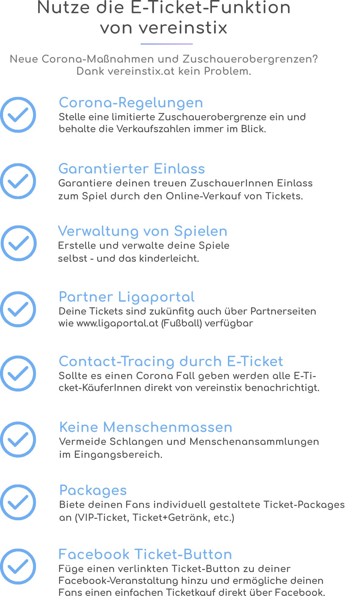 Nutze die E-Ticket-Funktion von vereinstix
